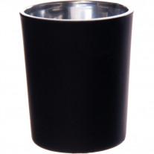 Bougeoir en verre Noir nacré