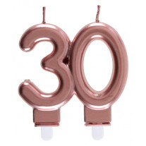 Bougie anniversaire 30 Ans rose gold