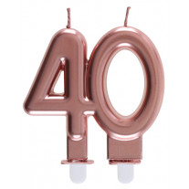 Bougie anniversaire 40 Ans rose gold