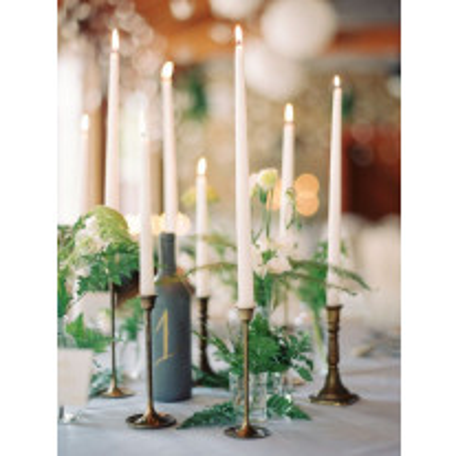 Bougie chandelier mariage Blanc