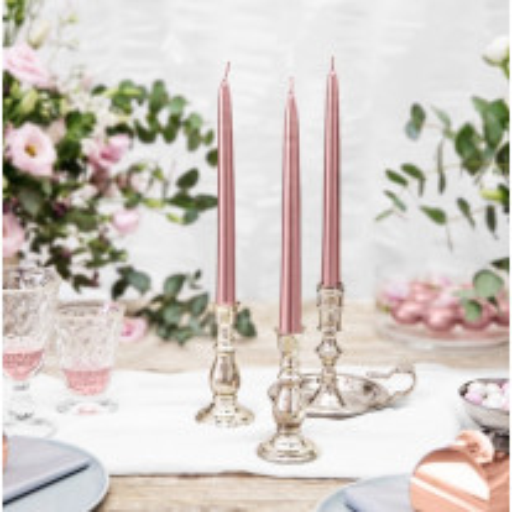 Bougie chandelier mariage Rose Nacré