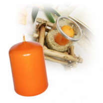 Bougie cylindrique Orange 10cm