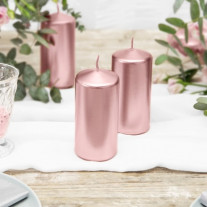 Bougie cylindrique Rose gold 12cm
