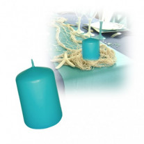 Bougie cylindrique Turquoise 10cm