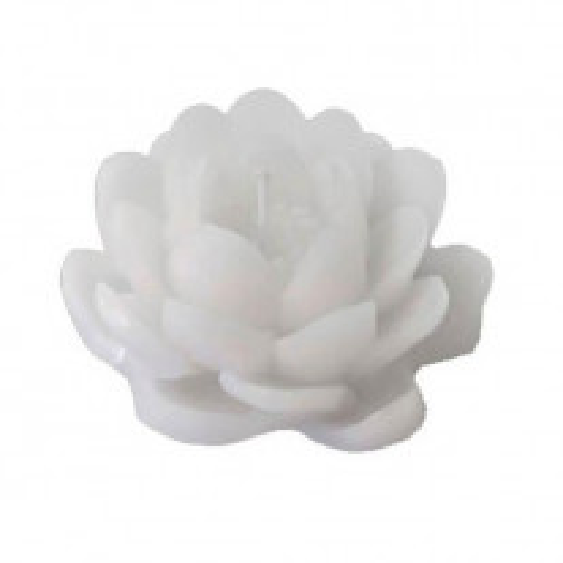 Bougie déco forme lotus Blanc