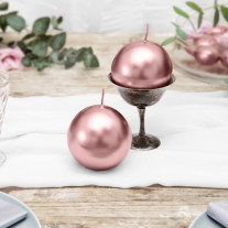 Bougie mariage boule Rose gold 8cm