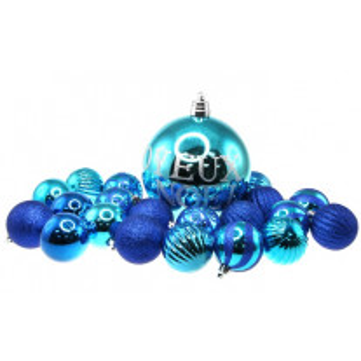 Boule de Noel Bleu Joyeux Noel