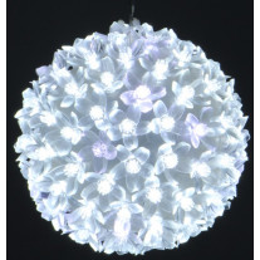 Boule de noel lumineuse 100 LED Blanche
