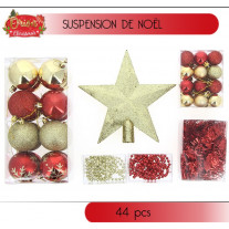 Boule de Noel Rouge et Or en kit
