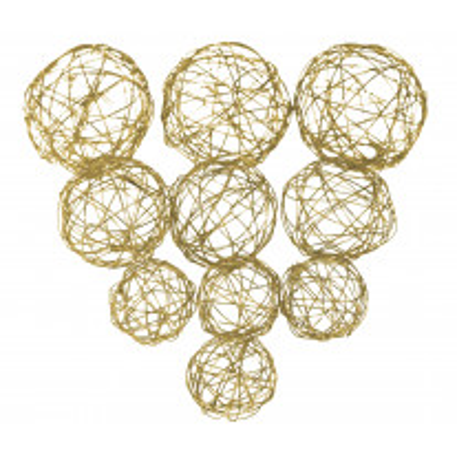 Boule en Métal Or x 7 pièces