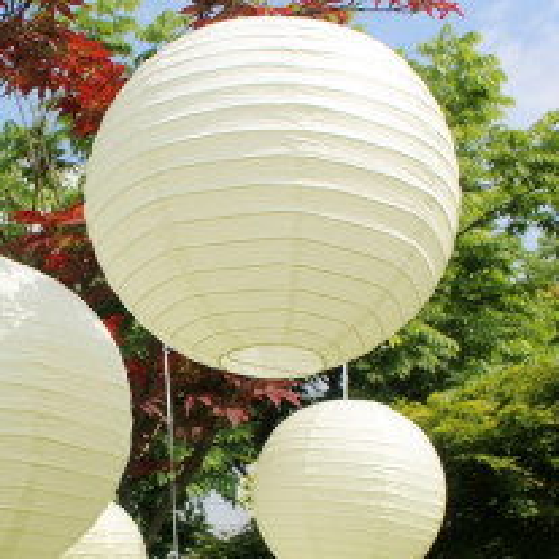Boule lampion Géante Ivoire 75cm