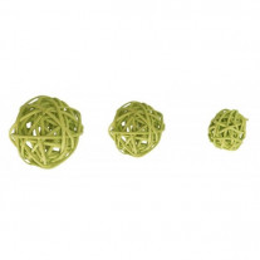 Boule en rotin Vert Anis x 10 pièces