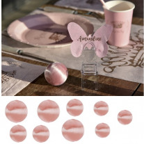 Assortiment boules de fil scintillant Rose