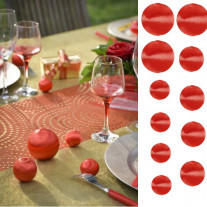Assortiment boules de fil scintillant Rouge