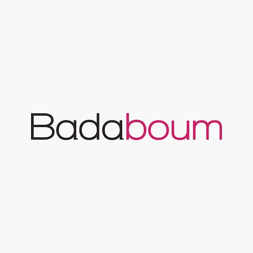 Bourse à dragées en lin avec coeurs blancs