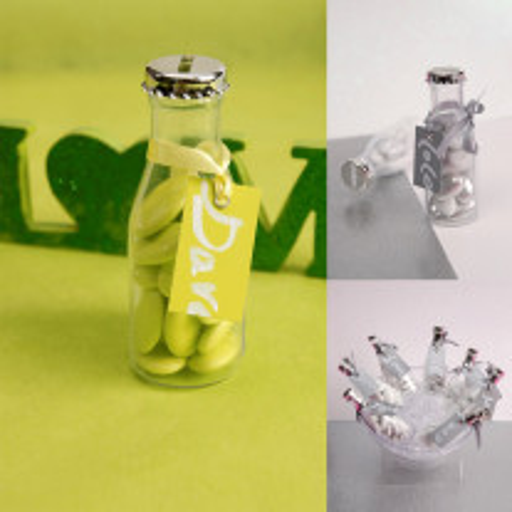 Contenant à dragées plastique Mini Bouteille Soda