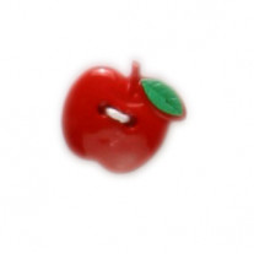 Bouton fantaisie Pomme Rouge 19mm x 2 pièces
