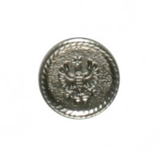 Bouton métal Argent 18mm x 5 pièces
