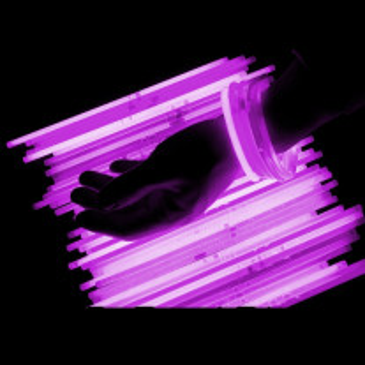 Bracelet lumineux fluo Rose