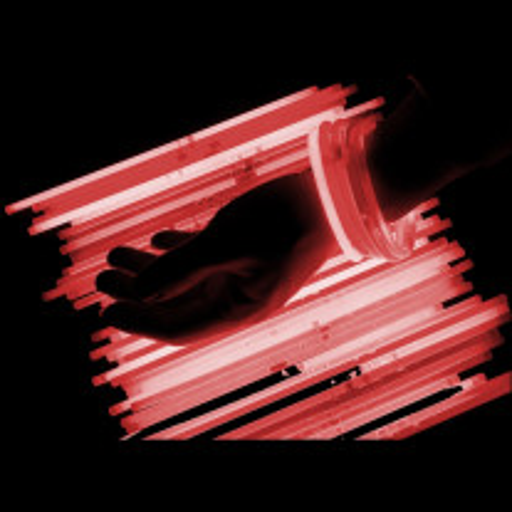 Bracelet lumineux fluo Rouge