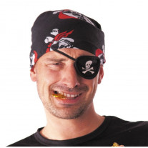 Cache Oeil pirate Tissu