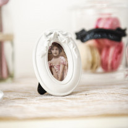 cadre ovale mariage blanc