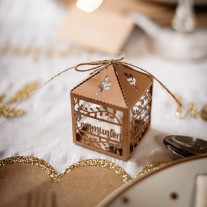 Cage a papier Communion Kraft