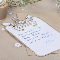 Cartes D'Invitation Licorne