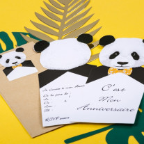 Cartes D'Invitation Panda