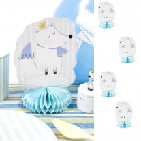 Centre de table Baby shower Renard Bleu ciel