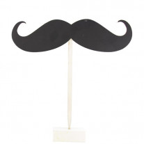 Centre de table Original Moustache en ardoise