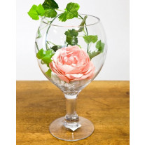 Centre de table Vase Verre Ballon 30cm