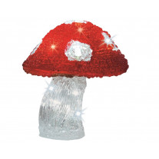 Champignon lumineux Noel 18CM 16LED