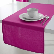 Chemin de table coton Fuchsia 50x150cm