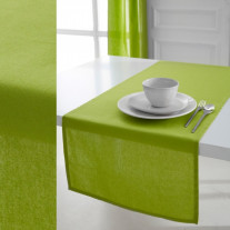 Chemin de table Today Vert anis en coton 50x150cm