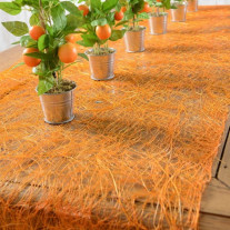 Chemin de table en abaca Orange 30cm