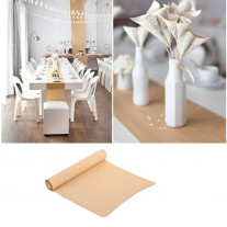 Chemin de table mariage kraft (
