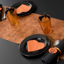 Chemin de table mariage orange fanon