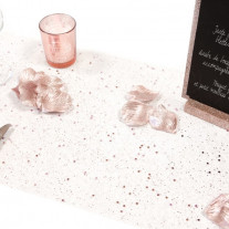 Chemin de table pailleté Rose Gold