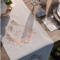 Chemin de table Rose Gold Just married