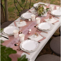 Chemin de table voie seche luxe Rose gold