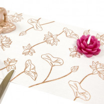 Chemin de table Zen Rose gold