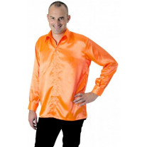 Chemise Disco Néon Orange