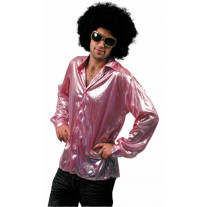 Chemise Disco Night Fever Rose
