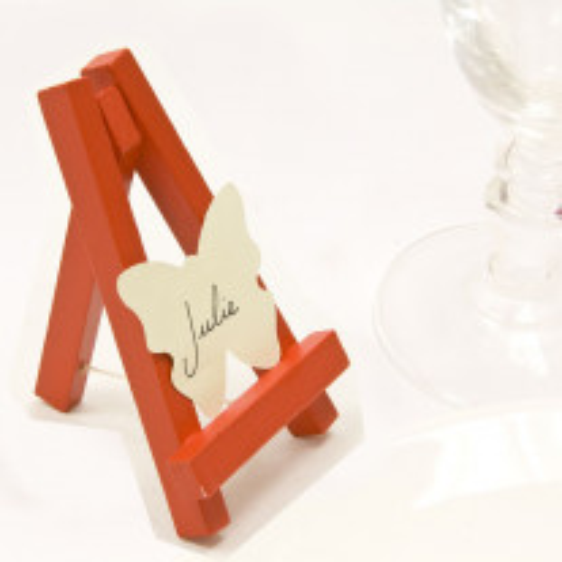 Chevalet en bois 10cm Rouge