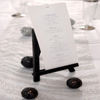 Chevalet de table pailleté Noir 18 cm