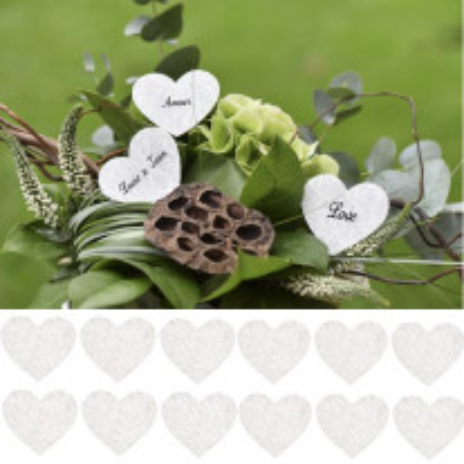Confettis coeur dentelle blanc