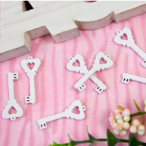 Confettis de table clef d'amour