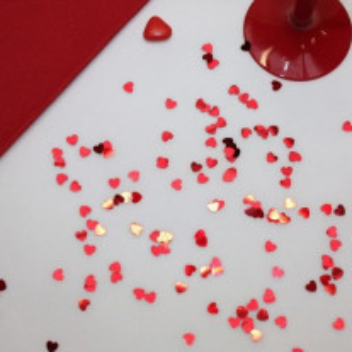 Confettis pour mariage en forme de Coeur Rouge