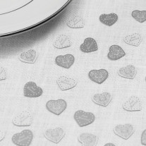 Confettis de table Just Married Blanc Argent